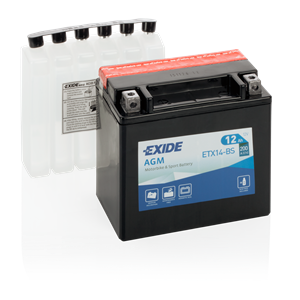 4597 EXIDE MC BATTERI AGM ETX14-BS
